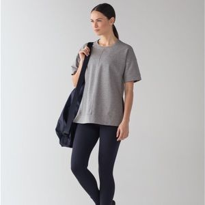 Lululemon Cut Above Tee in Heathered Med. Grey